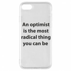 Etui na iPhone 7 Napis: An optimist