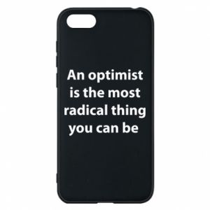Huawei Y5 2018 Case Inscription: An optimist