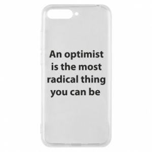 Etui na Huawei Y6 2018 Napis: An optimist