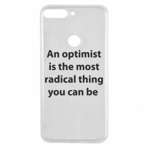 Huawei Y7 Prime 2018 Case Inscription: An optimist