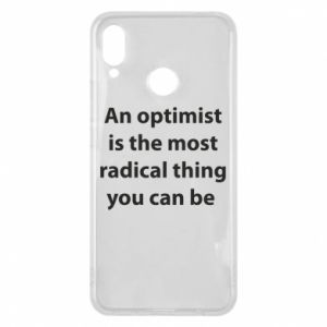 Huawei P Smart Plus Case Inscription: An optimist