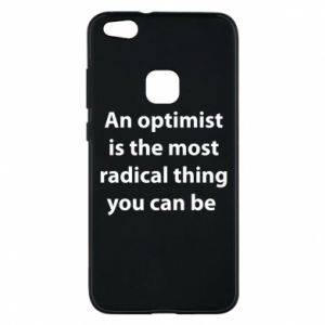 Etui na Huawei P10 Lite Napis: An optimist