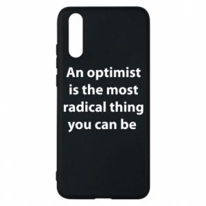Huawei P20 Case Inscription: An optimist
