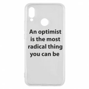 Huawei P20 Lite Case Inscription: An optimist