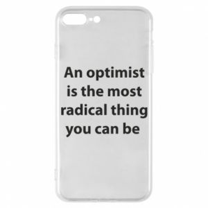 Etui do iPhone 7 Plus Napis: An optimist