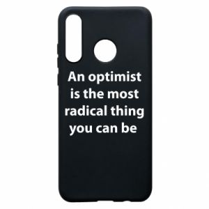 Etui na Huawei P30 Lite Napis: An optimist