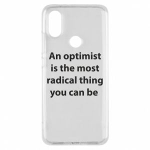 Xiaomi Mi A2 Case Inscription: An optimist