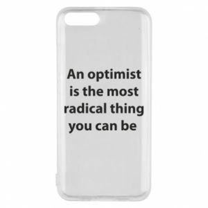 Xiaomi Mi6 Case Inscription: An optimist