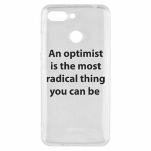 Xiaomi Redmi 6 Case Inscription: An optimist