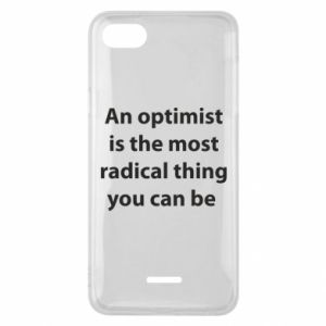 Etui na Xiaomi Redmi 6A Napis: An optimist