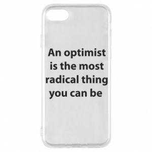 Etui na iPhone 8 Napis: An optimist