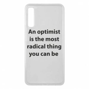 Phone case for Samsung A7 2018 Inscription: An optimist