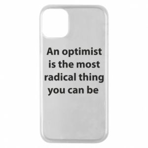Etui na iPhone 11 Pro Napis: An optimist