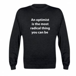 Kid's sweatshirt Inscription: An optimist