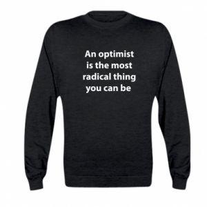 Bluza dziecięca Napis: An optimist