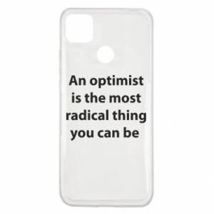 Etui na Xiaomi Redmi 9c Napis: An optimist