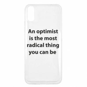 Etui na Xiaomi Redmi 9a Napis: An optimist