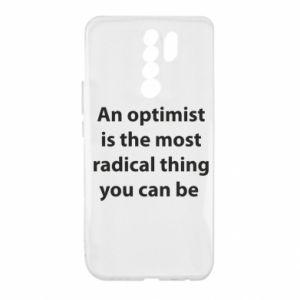 Etui na Xiaomi Redmi 9 Napis: An optimist