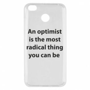 Xiaomi Redmi 4X Case Inscription: An optimist
