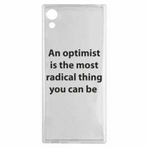 Sony Xperia XA1 Case Inscription: An optimist