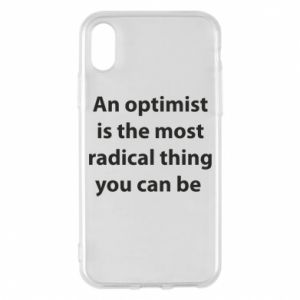 Etui na iPhone X/Xs Napis: An optimist