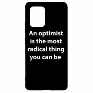 Etui na Samsung S10 Lite Napis: An optimist