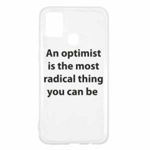Samsung M31 Case Inscription: An optimist