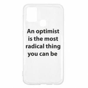 Etui na Samsung M31 Napis: An optimist