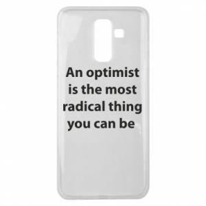 Etui na Samsung J8 2018 Napis: An optimist