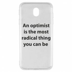 Etui na Samsung J7 2017 Napis: An optimist