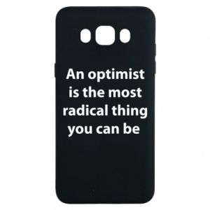 Etui na Samsung J7 2016 Napis: An optimist