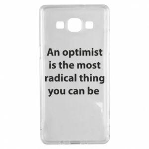 Etui na Samsung A5 2015 Napis: An optimist
