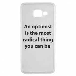 Etui na Samsung A3 2016 Napis: An optimist