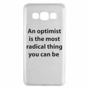 Etui na Samsung A3 2015 Napis: An optimist