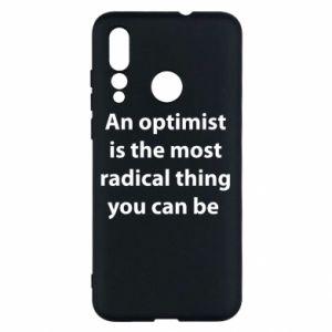 Etui na Huawei Nova 4 Napis: An optimist