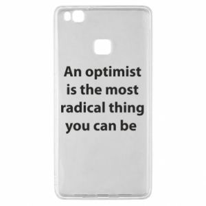 Etui na Huawei P9 Lite Napis: An optimist