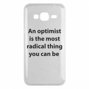 Samsung J3 2016 Case Inscription: An optimist