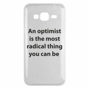 Etui na Samsung J3 2016 Napis: An optimist