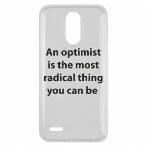 Etui na Lg K10 2017 Napis: An optimist