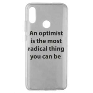 Huawei Honor 10 Lite Case Inscription: An optimist