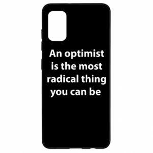 Etui na Samsung A41 Napis: An optimist