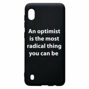 Etui na Samsung A10 Napis: An optimist