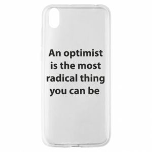 Huawei Y5 2019 Case Inscription: An optimist
