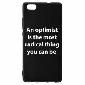 Etui na Huawei P 8 Lite Napis: An optimist