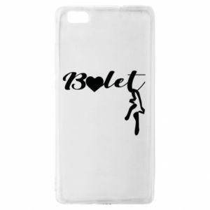 Etui na Huawei P 8 Lite Napis: Balet