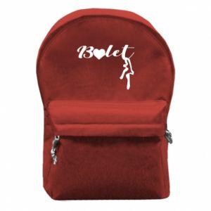 Plecak z przednią kieszenią Napis: Balet