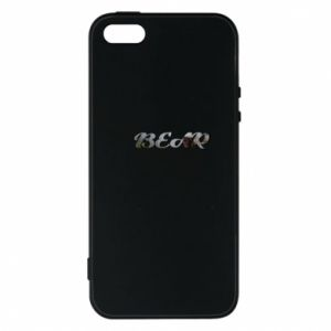 """Etui na iPhone 5/5S/SE Napis """"Bear"""" - PrintSalon"""
