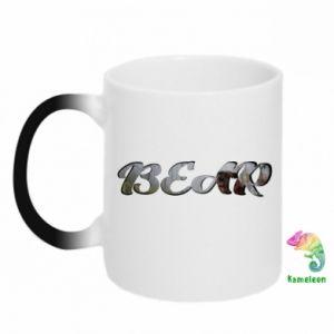 """Kubek-kameleon Napis """"Bear"""" - PrintSalon"""