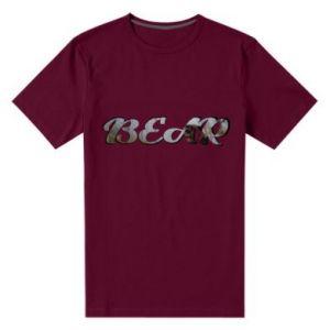 """Męska premium koszulka Napis """"Bear"""""""