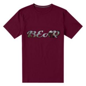 "Męska premium koszulka Napis ""Bear"" - PrintSalon"